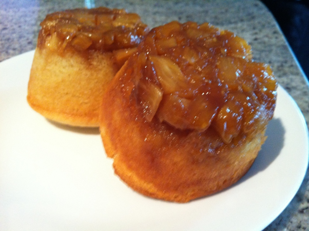 Those yummy upside down pineapple cakes....