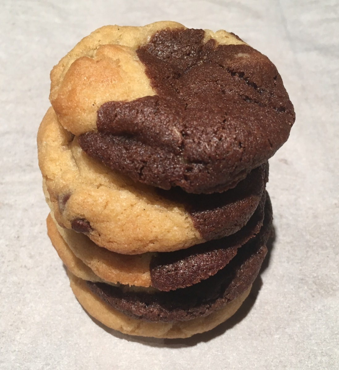 The Halfie: half brownie, half cookie!